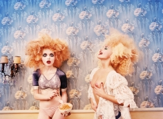 David LaChapelle, Milk Maidens, Alla and Tara in Galliano, Paris, Stern, 1996