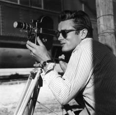 """Sid Avery, James Dean on location in Marfa, Texas for the film """"Giant"""" 1955"""