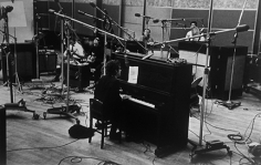 "Daniel Kramer, Bob Dylan at Piano with Group, ""Bringing it All Back Home"" Recording Session, New York, 1965"