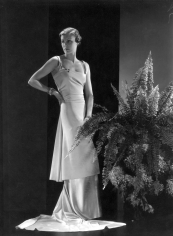 Hoyningen-Huene, Mademoiselle Boecler in silk dress, Vintage