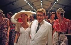 Harry Benson, Yves St. Laurent with Models, Paris, 1993