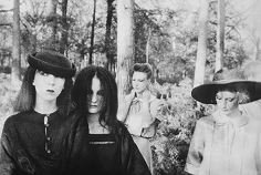 Deborah Turbeville, Ella, Anna, Isabelle, Fredericke, and Robin in Valentino at the Bois du Faux Repos, Normandy, VOGUE Italia, 1978