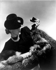 Horst P. Horst, Model in black holding glove