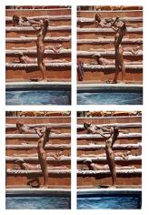 Slim Aarons, Catherine Wilke, 1980: Catherine Wilke joins the topless sunbathers on the island of Capri, Italy
