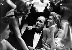 Phil Stern, Lauren Bacall, Humphrey Bogart & Rocky Cooper, mid 1950s