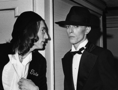 Ron Galella John Lennon and David Bowie, The 17th Annual Grammy Awards Party, Essex House, NYC, March 1, 1975
