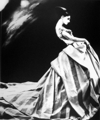 Lillian Bassman Night Bloom: Anneliese Seubert in a ball gown by Givenchy Haute Couture by John Galliano, Paris. The New York Times Magazine, 1996