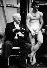 Arthur Elgort, James Cagney and Mikhail Baryshnikov, New York City Ballet, 1979