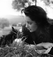"Peter Basch, Elizabeth Taylor, ""Giant"" film location, Virgina, 1955"
