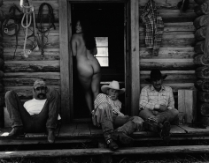 Kurt Markus, Olga and Cowboys,  Little Bear Ranch, Montana, 1994