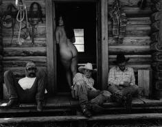 Kurt Markus, Olga and Cowboys,  Little Bear Ranch, Montana, 1994