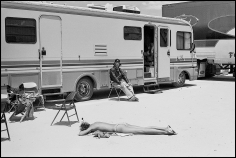 Arthur Elgort, Carmen Kass, VOGUE, Death Valley, CA, 2000