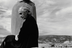 John Loengard, Georgia O'Keeffe on roof at Ghost Ranch, Abiquiu, New Mexico, 1967