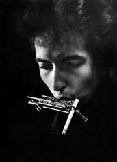 Daniel Kramer, Bob Dylan with Cigarette in Harmonica Holder, Philadelphia, 1964