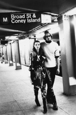 Stephanie Pfriender Stylander, Kate Moss and Marcus Schenkenberg, Harper's Bazaar Uomo, New York, 1992