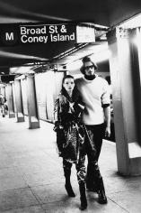 Stephanie Pfriender Stylander, Kate Moss and Marcus Schenkenberg, New York, Italian Harper's Bazaar, 1992