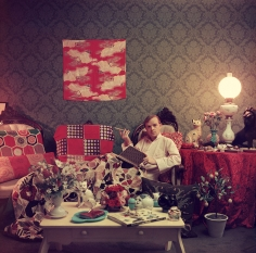 Slim Aarons, Truman Capote in His Brooklyn Heights Apartment, 1958