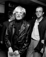 Ron Galella, Andy Warhol and Keith Haring, New York City, 1985