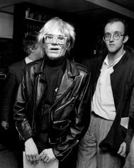 Ron Galella, Andy Warhol and Keith Haring, New York City, 1985
