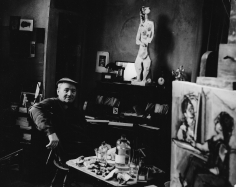 Karl Bissinger, Max Weber in his studio at Great Neck, Long Island, 1948-1950