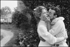 Mary Ellen Mark, Candice Bergen and Louis Malle at their wedding,  Lugagnac, France, 1980