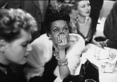 Slim Aarons, Gloria Swanson awaiting the results of the Academy Award for Best Actress at a cafe on West 52nd Street, New York, April 2, 1951
