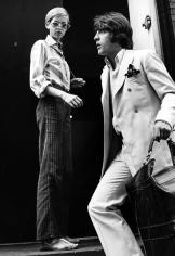 Ron Galella Twiggy and Justin de Villeneuve entering Bert Stern's studio, New York, 1967
