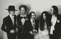 Ron Galella, David Bowie, Art Garfunkel, Paul Simon, Yoko Ono, and John Lennon at the Grammy Awards, New York, 1975