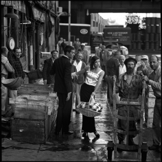 Jerry Schatzberg, Anne St. Marie, Fulton Fish Market, New York, 1958