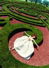 David LaChapelle, Collapse in a Garden, Avalon Fallen in Shrubbery, Paris, Paris Vogue, 1995