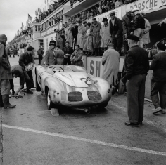 Jesse Alexander, Porsche Pit Stop, Le Mans, 1959