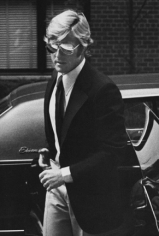 Ron Galella Robert Redford arriving at Mary Lasker's apartment, NYC, March 15, 1974