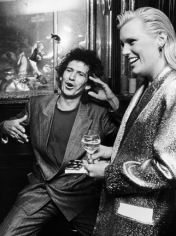 Ron Galella Keith Richards and Patti Hansen, Club MK, NYC, June 13, 1988
