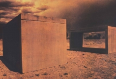 Sheila Metzner, Concrete Boxes Donald Judd. Land Art Series. 2003.