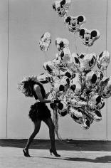 Rico Puhlmann, Bouquet of Balloons, Gabrielle Reece, Disney World, Orlando, Florida, Harper's Bazaar, 1990