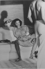Helmut Newton, Woman Examining Man, Calvin Klein, Vogue, Saint Tropez, 1975