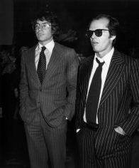 Ron Galella, Warren Beatty and Jack Nicholson, Mabel Mercer Concert, Dorothy Chandler Pavilion, Los Angeles, 1978