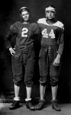 Michael Disfarmer, Footballers,  Cleon McAnear and Bill Barnett,  Ca. 1940