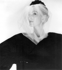 Louise Dahl-Wolfe, Veil and Black Coat, 1954