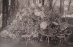 Deborah Turbeville, Unseen Versailles, 1980 (Pile of Chairs)