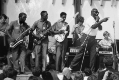 David Gahr Howling Wolf and Band at the Newport Folk Festival, 1966