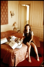 Arthur Elgort, Kate Moss at the Hotel Raphael, Paris, VOGUE Italia, 1993