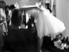 Lillian Bassman Backstage at the Joanna Mastroianni spring fashion show, Bryant Park, New York, 2007