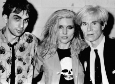 Ron Galella, Chris Stein and Debbie Harry of Blondie with Andy Warhol, Meadowlands Arena, New Jersey, 1982
