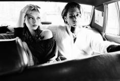 Stephanie Pfriender Stylander, Kate Moss and Marcus Schenkenberg (Cool), Harper's Bazaar Uomo, New York, 1992