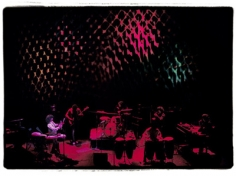 Amalie R. Rothschild, Santana with Joshua Light Show Background, Fillmore East, 1969