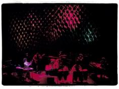Amalie R. Rothschild, Santana with Joshua Light Show Background, Fillmore East, 1969