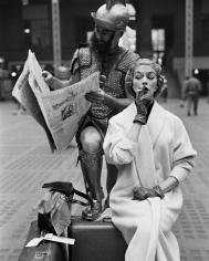 William Helburn, Jean Patchett and Victor Curter, Penn Station, New York, 1955
