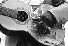Herbert Wise, Blues Musician with Rings,  Ann  Arbor, Michigan, 1973