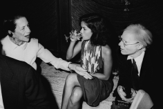 Ron Galella Diana Vreeland, Bianca Jagger and Andy Warhol, at the Four Seasons, NYC, August 11, 1976